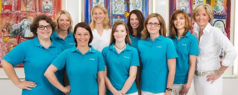 Teamfoto Praxisteam Dr. Montanus-Werner