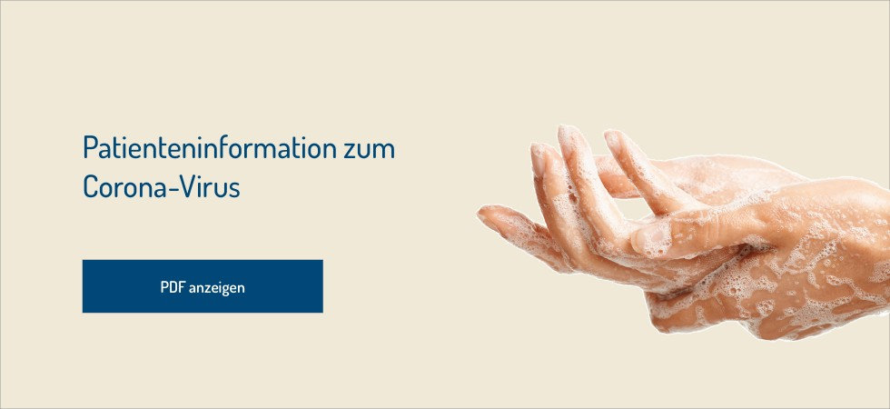 Banner Patienteninformation Corona-Virus Mai 2020